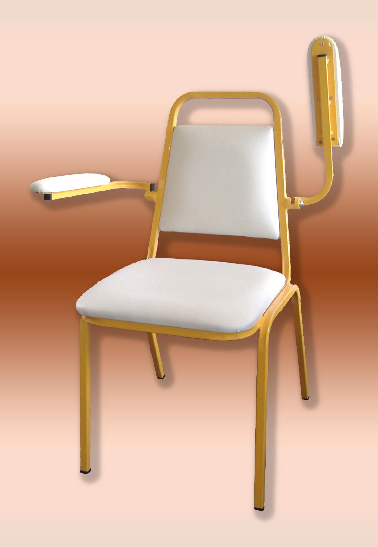 Kórtermi támlás szék felhajtható karfás